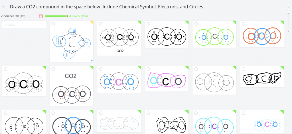 Diagrams of covalent bonds using the show your work tool.
