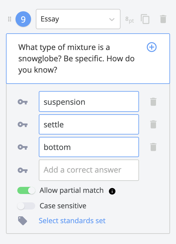 Include answers to questions so your assignments autograde.